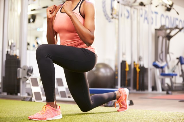 Lunges are great for your legs.