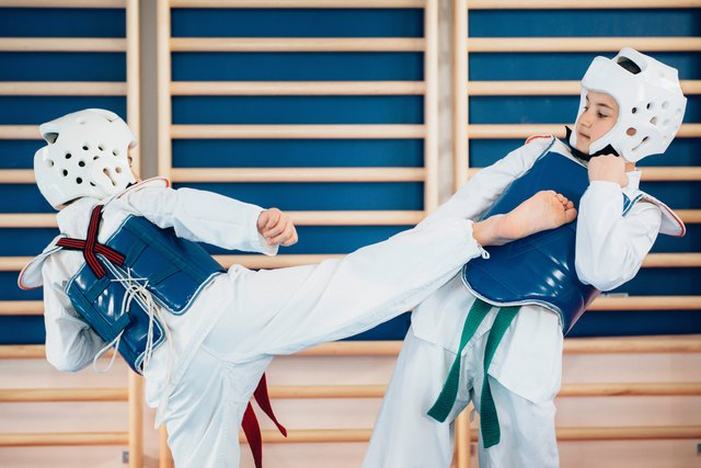 Tae kwon do focuses on kicking techniques.