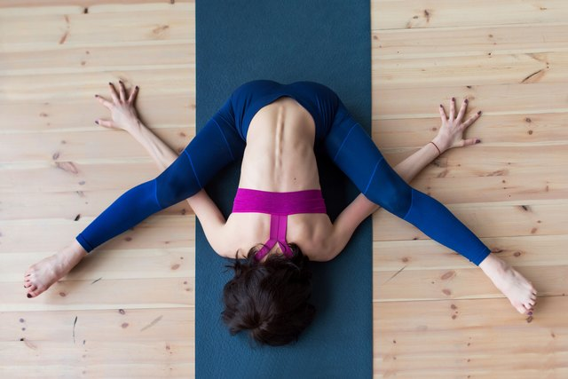 Yoga poses help stretch the adductor muscles.