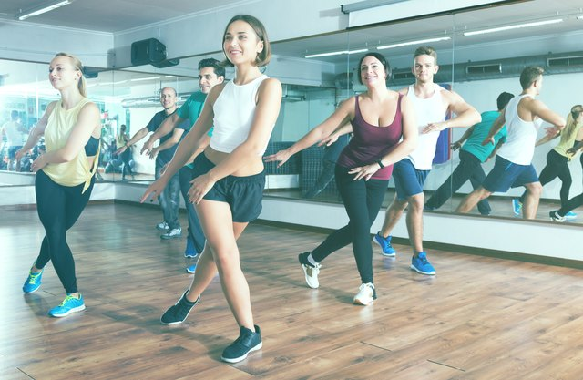 Zumba Strong and Zumba Toning work your upper body muscles with resistance exercises.