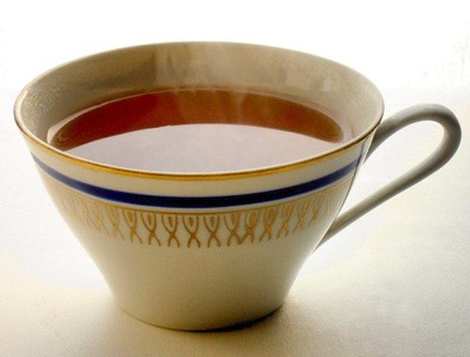 A warming cup of tea can help soothe an irritated throat.