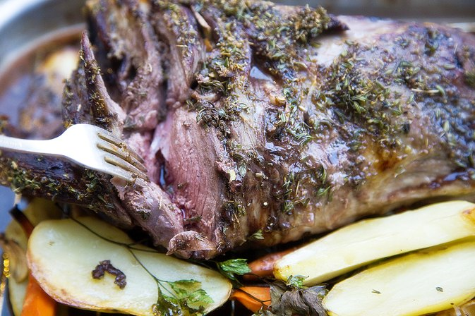How To Cook Lamb Leg Pink