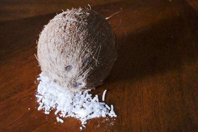 How to Peel Flesh Away from Coconut Skin