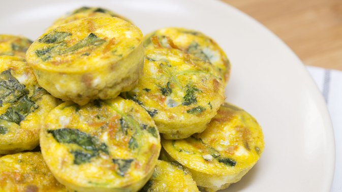How to Make Kale and Sweet Potato Breakfast Cups in a Muffin Tin