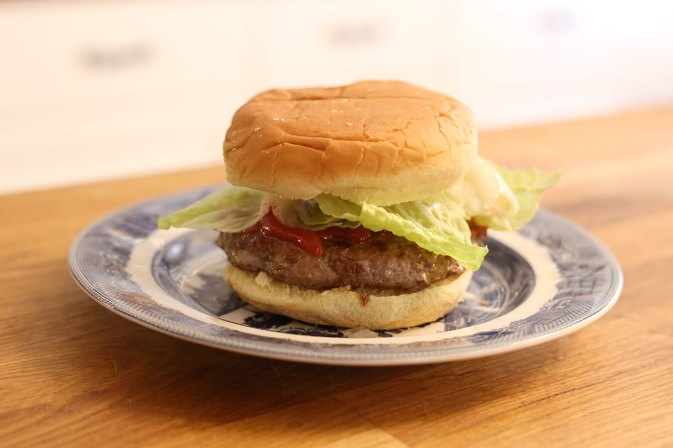 how to cook a frozen burger in a pan