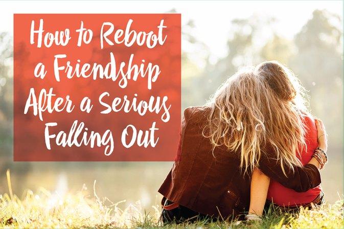 How to rekindle a broken friendship