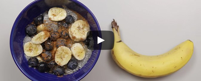 How to Make Blueberry and Banana Chia Breakfast Bowls
