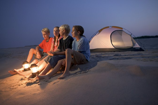 Beachfront Camping in Siesta Key, Florida