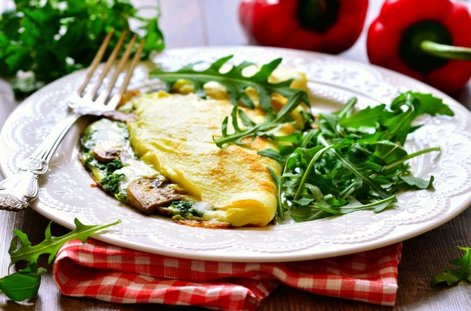 Spinach & Mushroom Omelet Nutrition Analysis