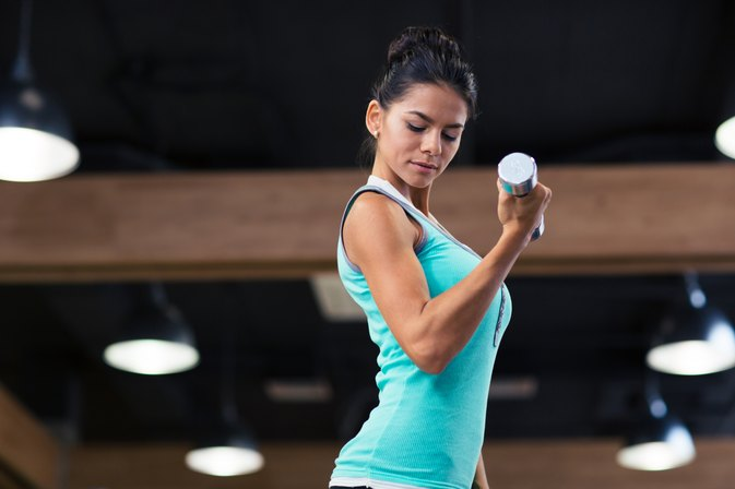 How to Build Arm Muscles With Dumbbells