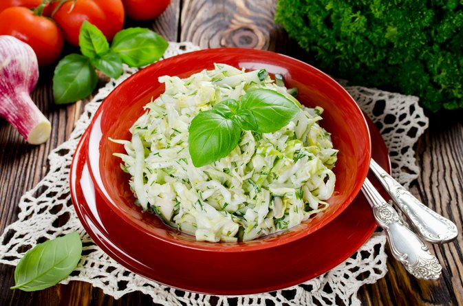 Coleslaw With Rice Vinegar, Olive Oil & Sugar