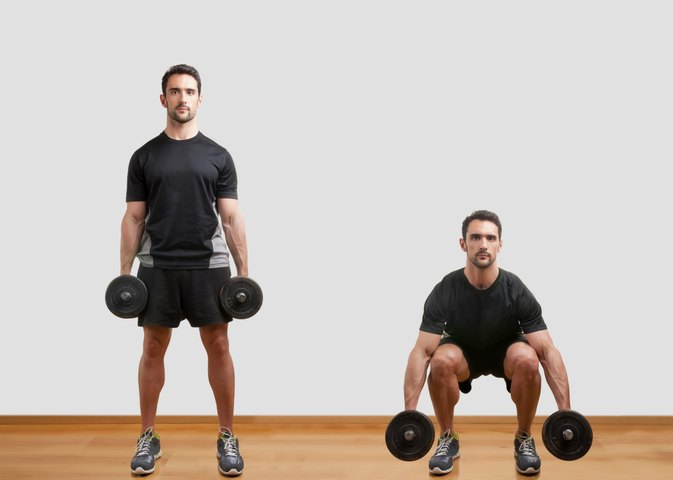 bodyweight squats vs dumbbell squats livestrong com