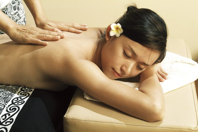 Asian or spa beauty fitness massage