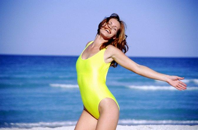 Big belly bikini girl — img 11
