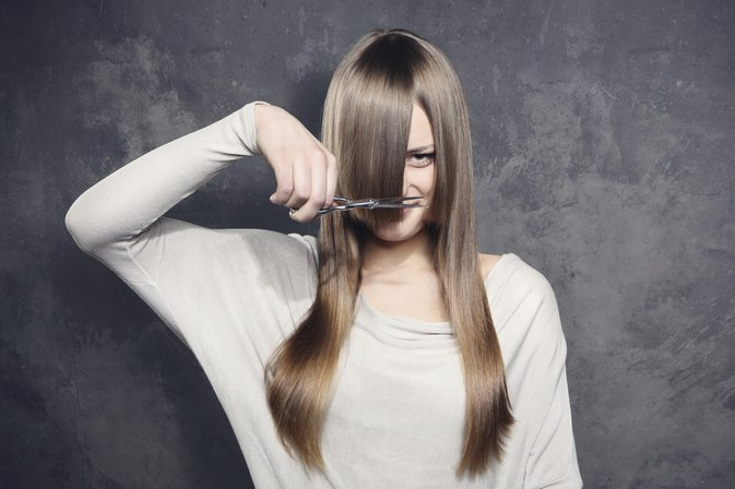 How to Use Scissors to Trim Your Hair