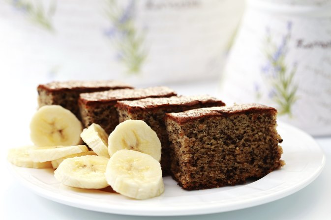 Moist Banana Cake Made With Vegetable Oil