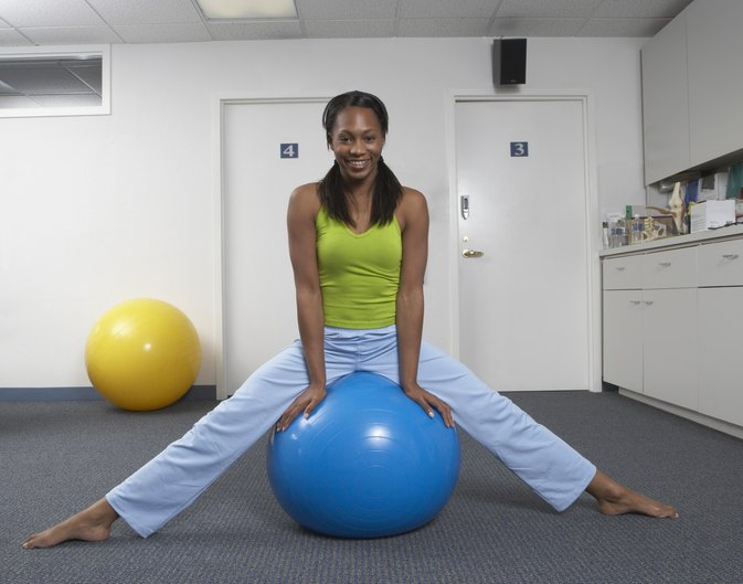 Exercise Ball Chair Exercises Livestrong Com
