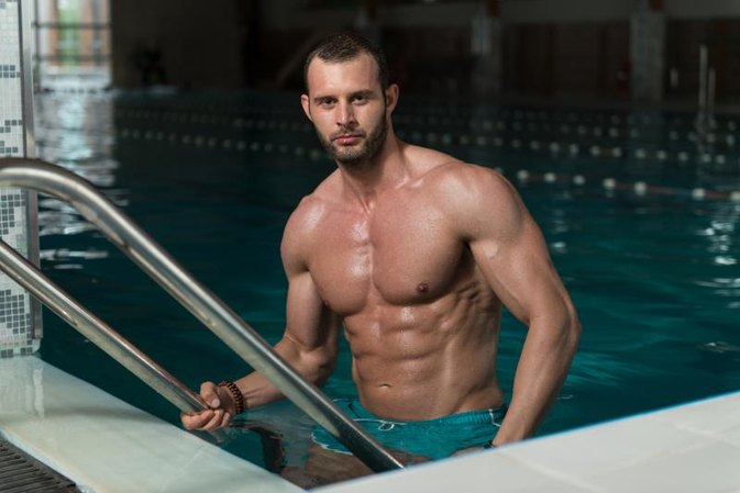 Swimming to Get Six-Pack Abs