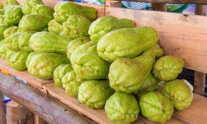How to Chop Chayote