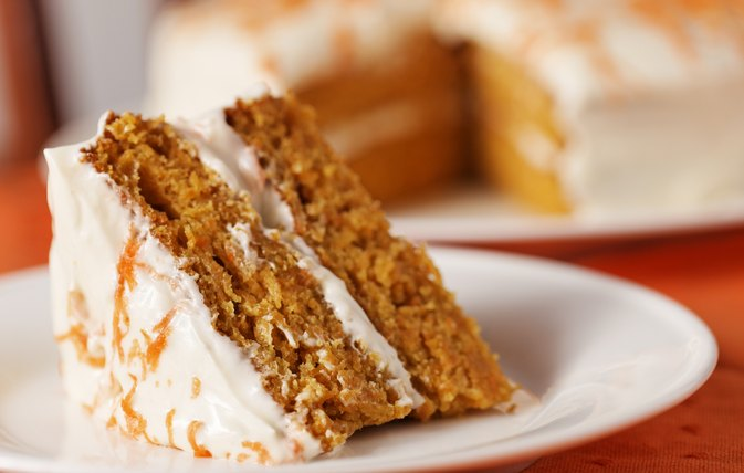 Carrot Cake Small Piece Calories