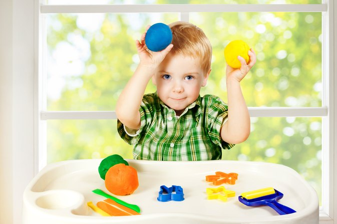Does Using Play Dough Enhance Infant Development?