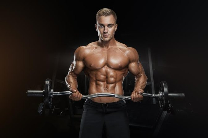 How to Work Out the Chest With a Curl Bar