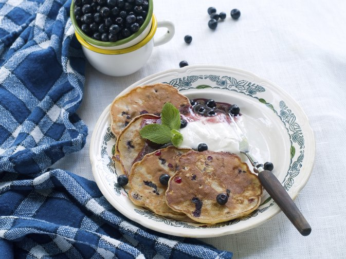 Calories in Blueberry Pancakes