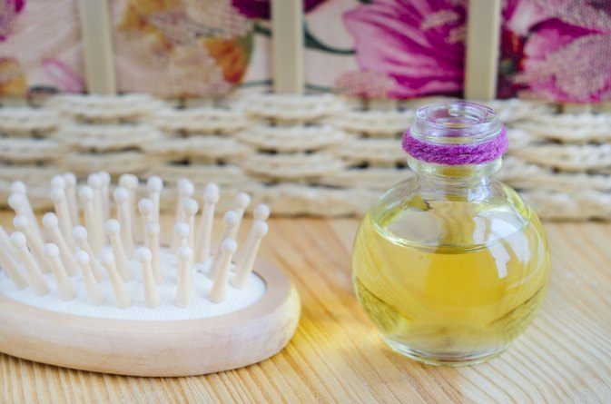 Homemade Hot Oil Treatment for Dry Hair