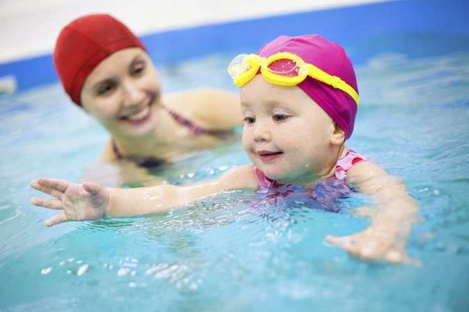 Image result for child swimming lessons