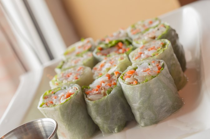 Calories in Spring Rolls with Fresh Shrimp