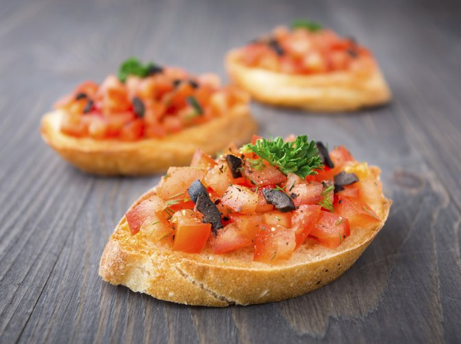 calories in bruschetta livestrong com. Black Bedroom Furniture Sets. Home Design Ideas