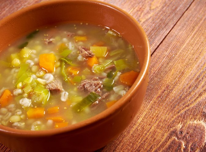 The Calories in Vegetable Barley Soup