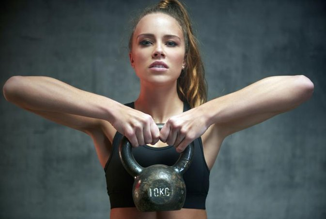 A 3-Minute Killer Kettlebell + Burpee Workout