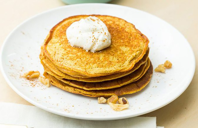 These Pumpkin Pancakes Are Gluten Free and Protein Packed