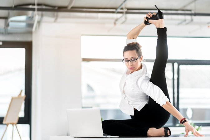 Hamstring Stretches To Do At The Desk At Work Livestrong Com