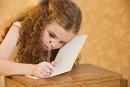 Children Writing Sentences for Punishment