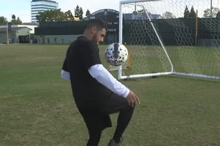 High-Knee Exercise With a Soccer Ball