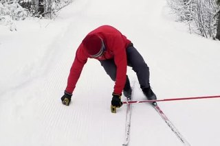 Getting Up When Falling in Cross-Country Skiing