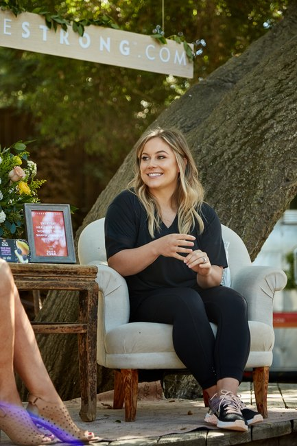 Olympian Shawn Johnson offers her advice to budding entrepreneurs at an event at Calamigos Ranch, Malibu, CA