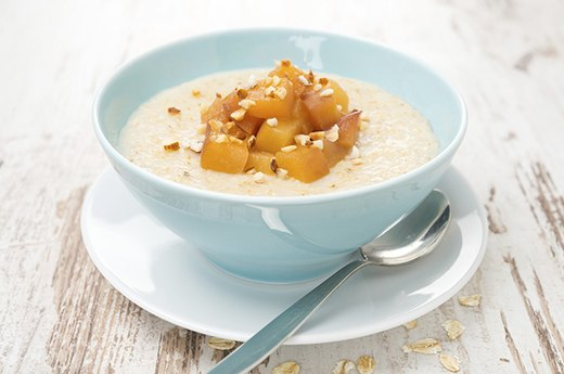10. Peaches-and-Cream Steel-Cut Oatmeal
