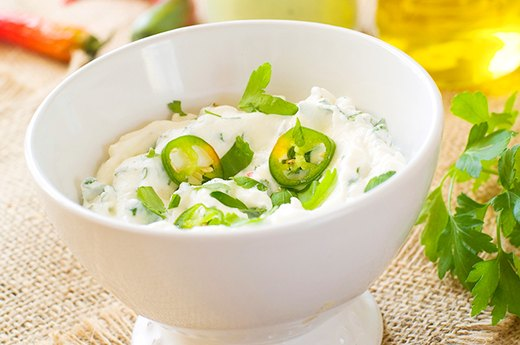 7. RANCH DIP: Cottage Cheese and Greek Yogurt Instead of Sour Cream