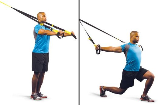 1. Step Forward Lunge With T-Fly