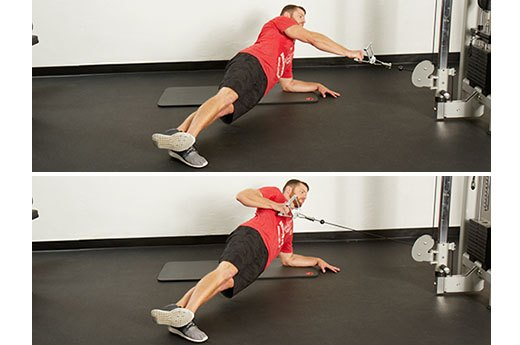 11. Side-Plank Cable Row