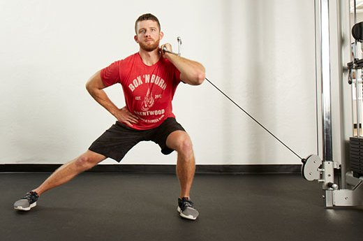 4. Cable Lateral Lunge