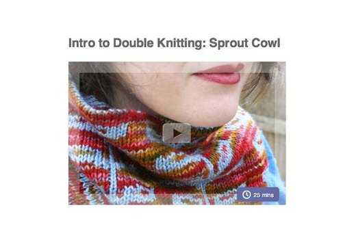 10. DOUBLE KNIT YOUR OWN SCARF