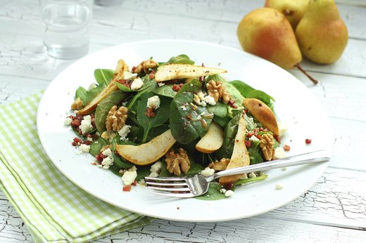 12. Broiled Pear and Goat Cheese Salad