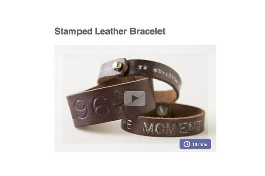 2. MAKE A STAMPED LEATHER BRACELET WITH FITNESS MOTIVATION