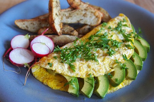 8. Avocado Omelet With Herbs