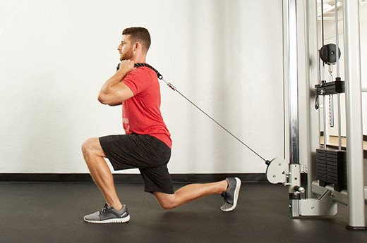 3. Cable Reverse Lunge
