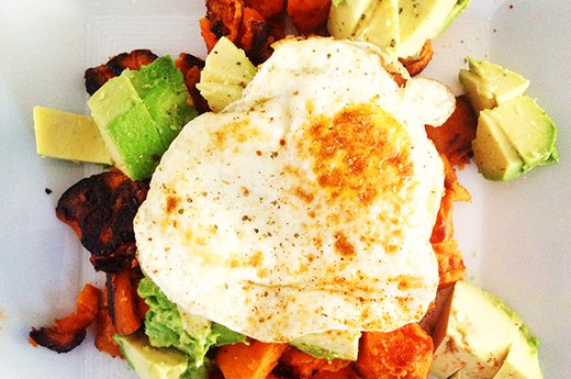 9. Kelly's Sweet Potato-Avocado-Eggs